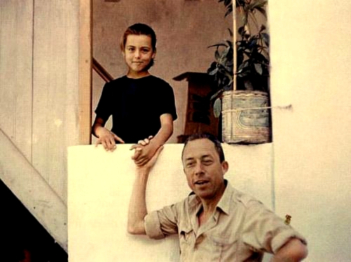 Albert Camus and his daughter Catherine Greece 1958