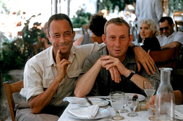 Albert Camus and his publisher Michel Gallimard Greece 1958