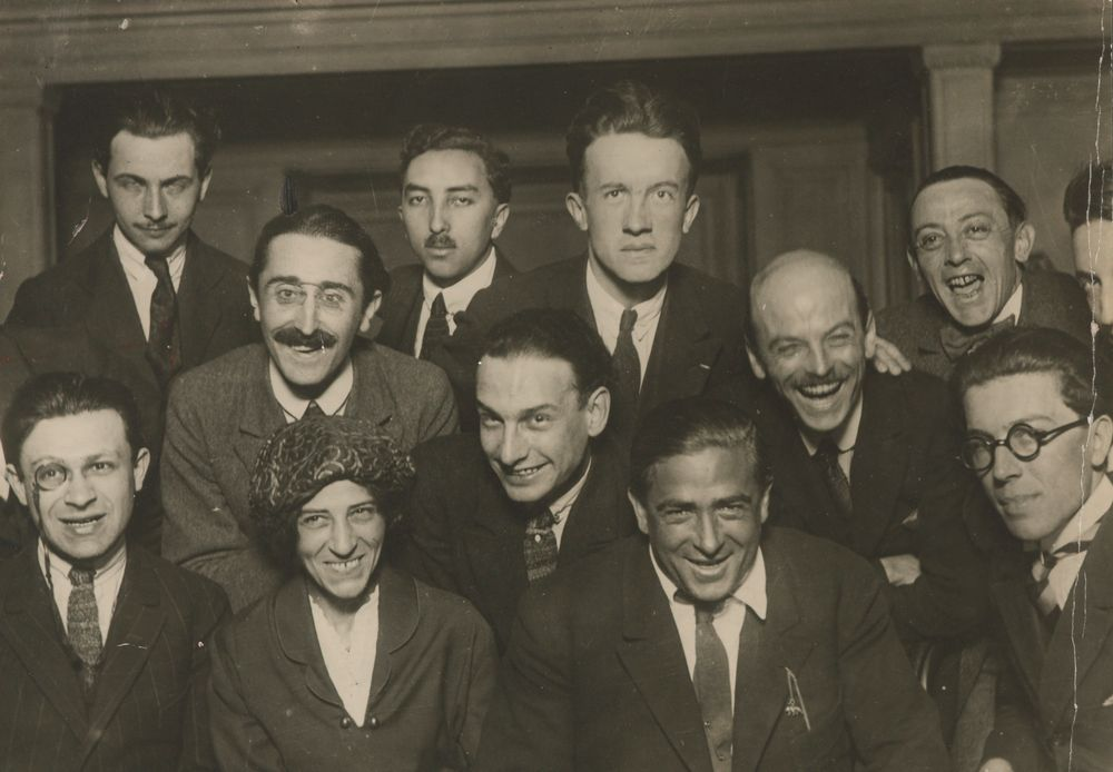 Dada artists group photograph 1920 Paris